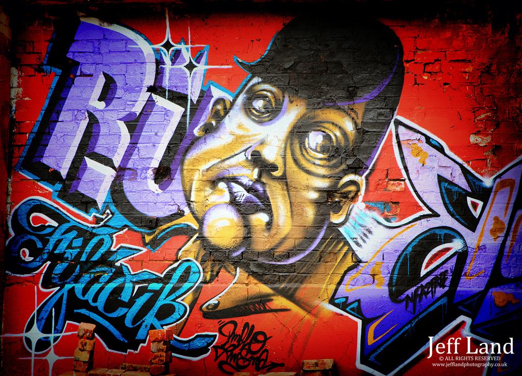 Graffiti, Model, Photographer, Birmingham, Custard Factory, Portrait, Warwickshire