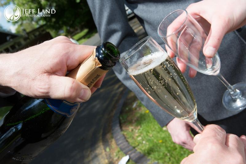 Champagne, Wedding, St Aphege, Solihull, Birmingham