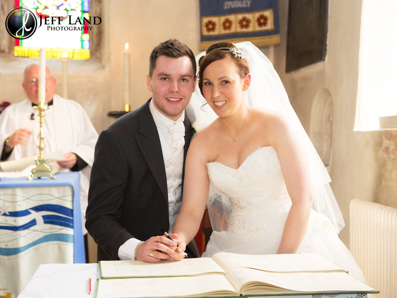 Wedding at Studley Church nr Stratford Upon Avon, Warwickshire