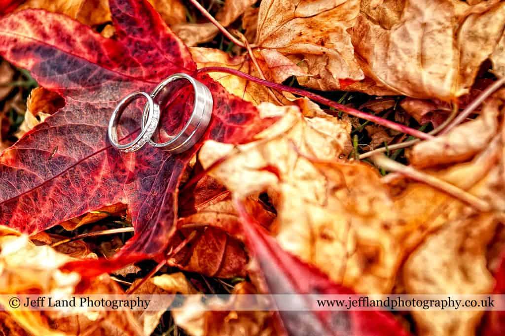 Wedding, Photographer, Stratford Upon Avon, Warwickshire, Ettington Park Hotel, Rings, Autumn, www.jefflandphotography.co.uk