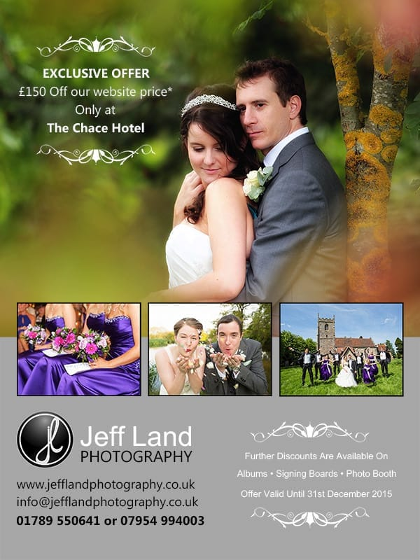 Wedding, Photographer, Photography, Event, Approved photographer, The Chace Hotel, Coventry, Warwickshire, Flyer