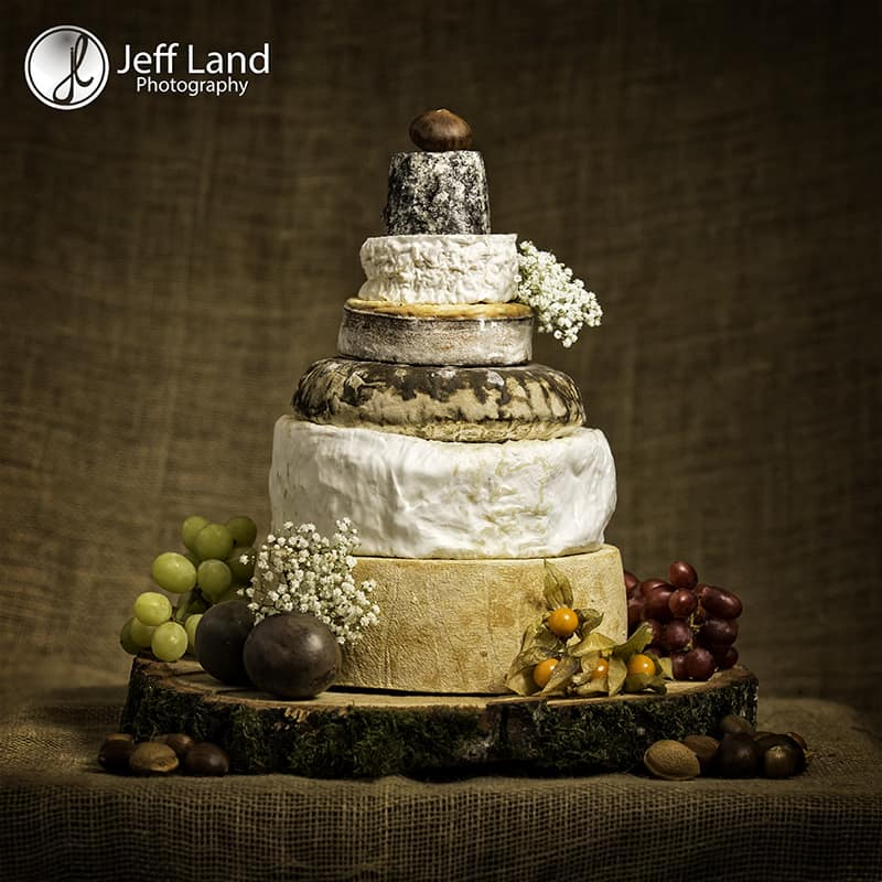 Warwick, Studio Photographer, Studio Photography, Product Photographer, Product Photography, Wedding Cheese Cake, Cotswold Cheese, Charingworth, Burford, Delice de Bourgogne, Barkham Blue, St Oswald, St Eadburgha, Cerney Ash