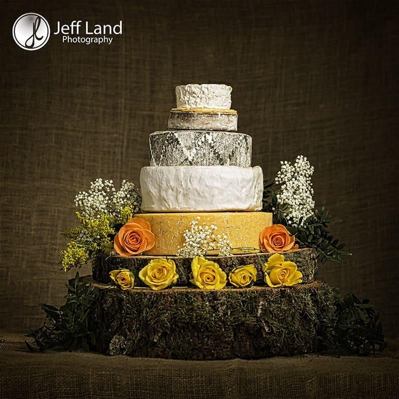 Warwick, Studio Photographer, Studio Photography, Product Photographer, Product Photography, Wedding Cheese Cake, Cotswold Cheese, Snowshill, Double Gloucester, Delice de Bourgogne, Cornish Yarg, St Oswald, St Eadburgha