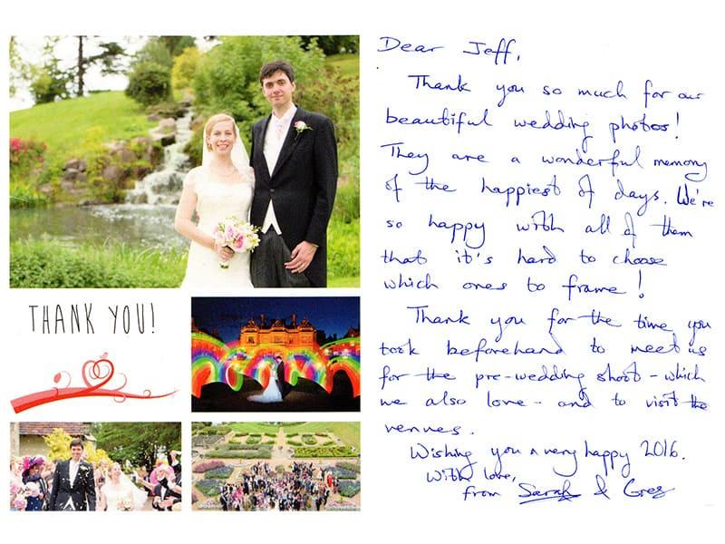 Thank You Card, Wedding Photographer, Warwickshire Wedding Photographer, Event Photographer, Welcombe Hotel, Stratford-upon-Avon, St Mary Magdalene's Church, Lillington, Leamington Spa