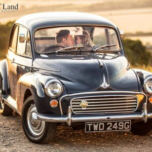 Warwickshire Wedding Photographer, Burton Dassett, Leamington Spa, Pre Wedding Shoot, Engagement, Sunset, Morris Minor