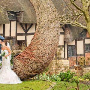 Anne Hathaway's Cottage, Stratford-upon-Avon, Wedding, Photographer, Photography, Bride & Groom, Jeff Land, Just Married, Event, Grosvenor Hotel