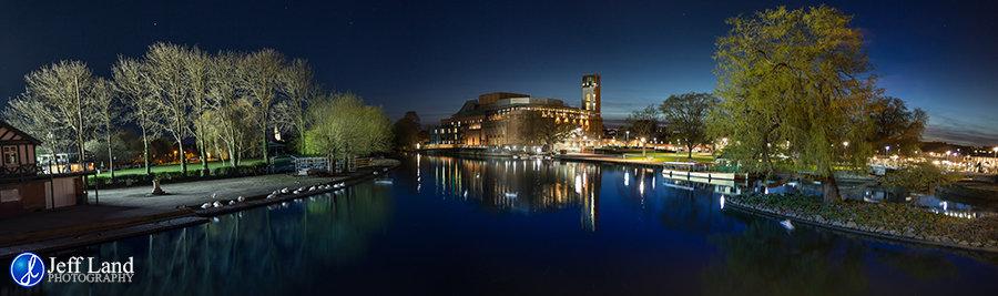 Royal Shakespeare Company, RSC, Theatre, Stratford-upon-Avon, Warwickshire, River Avon, Tramway Bridge, Low Light, Photography, Photographer