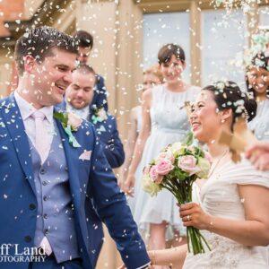 Welcombe Hotel, Wedding Photographer, Stratford-upon-Avon, Warwickshire, Chinese, Confetti - Just Married