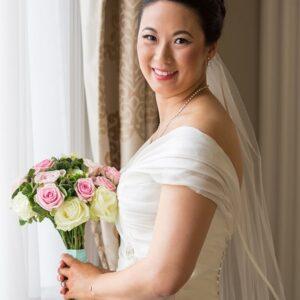 Welcombe Hotel, Wedding Photographer, Stratford-upon-Avon, Warwickshire, Chinese, Bride Portrait