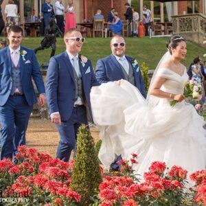Welcombe Hotel, Wedding Photographer, Stratford-upon-Avon, Warwickshire, Chinese, Bride, Groomsmen