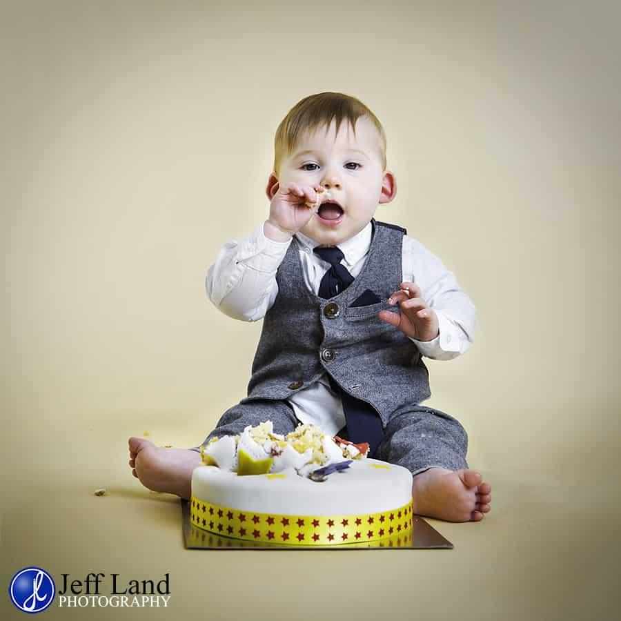 Cake Smash, Baby Portrait, Studio, Warwick Photographer, Warwickshire, St Johns, Leamington Spa, Kenilworth