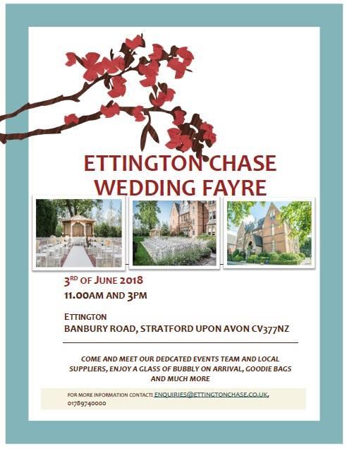 Wedding Fayre – Ettington Chace 3rd June 2018