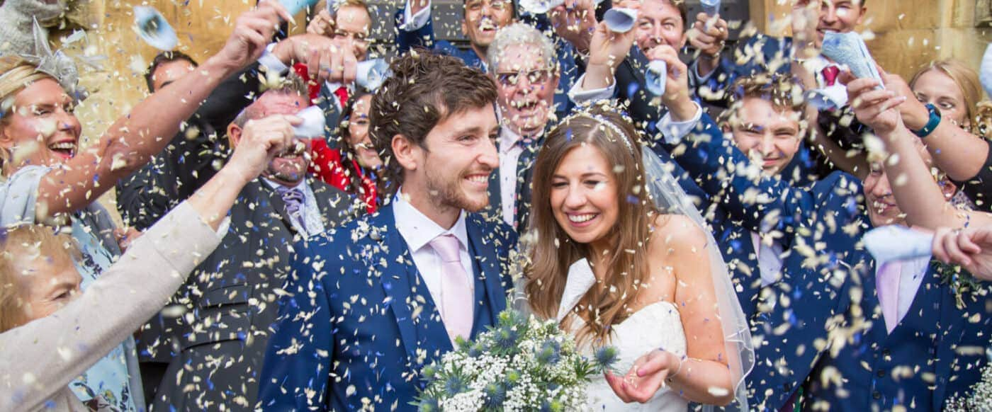 Wedding Photographer, Stratford upon Avon, Warwickshire, Confetti