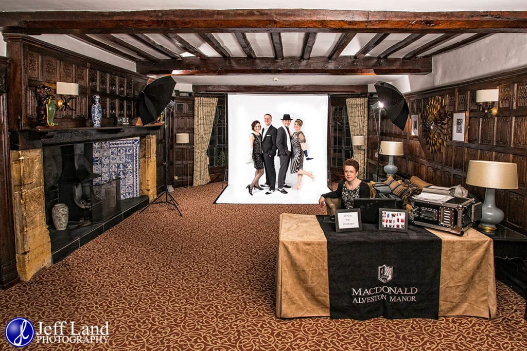 Open Air, Photo Booth, Alveston Manor, Setup, Stratford upon Avon, Warwickshire