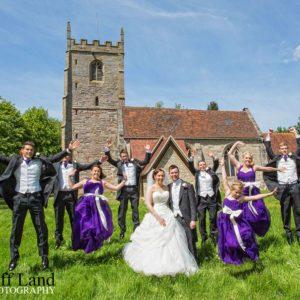 Bridal Party Jump, Wedding Photographer