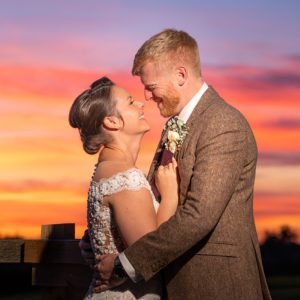 Bride & Groom, Sunset, Portrait, Wedding Photographer, Stratford upon Avon, The Bell, Alderminster, St. Mary's Church, Wimpstone
