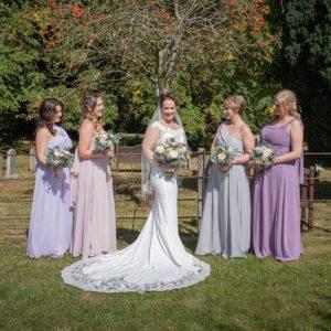 Bridesmaids, Wedding Photographer, Stratford upon Avon, The Bell, Alderminster, St. Mary's Church, Wimpstone
