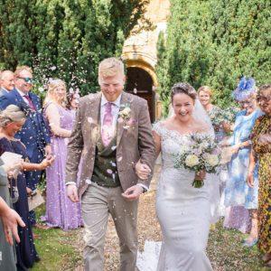 Confetti, Wedding Photographer, Stratford upon Avon, The Bell, Alderminster, St. Mary's Church, Wimpstone