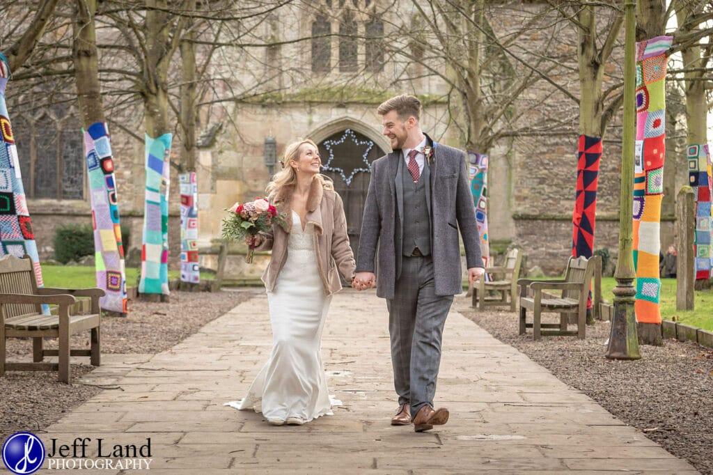 Bride and Groom Holy Trinity Church Stratford upon Avon Warwickshire