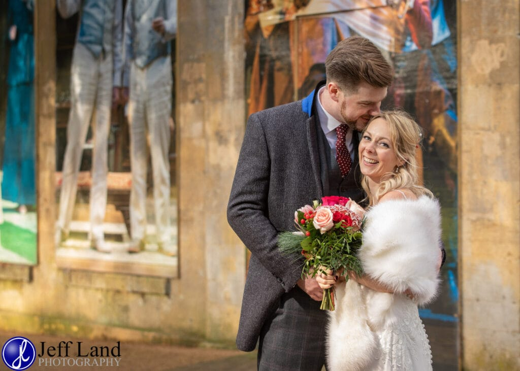 Bride and Groom Portrait Stratford upon Avon Warwickshire