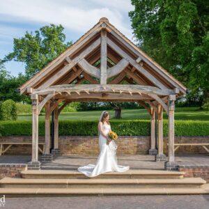 Wedding Photographer at Wethele Manor Leamington Spa Warwickshire Bride Portrait & Bouquet