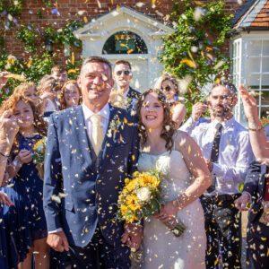 Wedding Photographer at Wethele Manor Leamington Spa Warwickshire Confetti