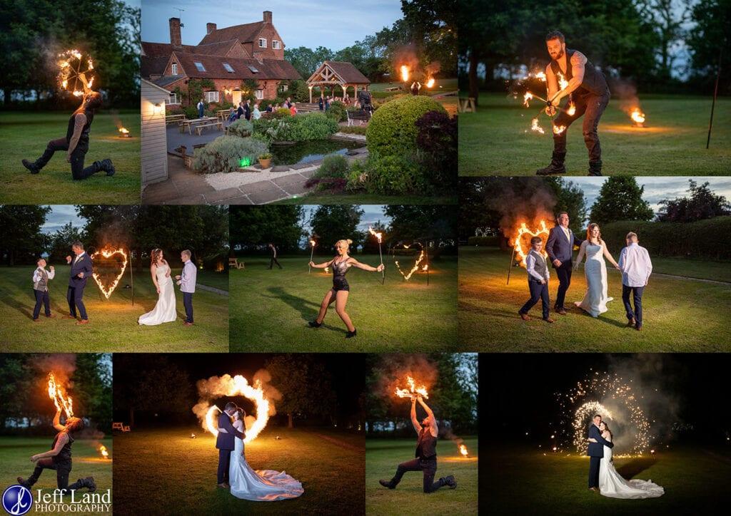 Wedding Photographer at Wethele Manor Leamington Spa Warwickshire Fire Breathers