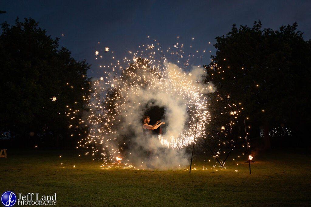 Wedding Photographer at Wethele Manor Leamington Spa Warwickshire Fire Breather