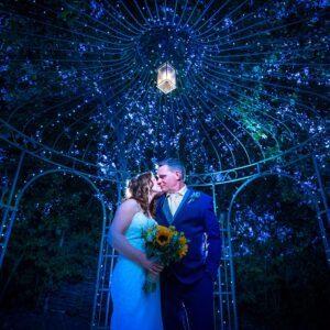 Wedding Photographer at Wethele Manor Leamington Spa Warwickshire Bridal Portrait at Night