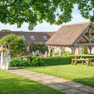 Wedding Photographer at Wethele Manor Leamington Spa Warwickshire Bridal Portrait Panoramic