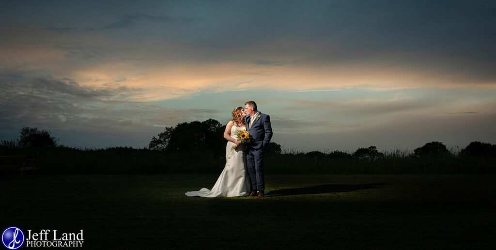 Wedding Photographer at Wethele Manor Leamington Spa Warwickshire Bride & Groom Sunset