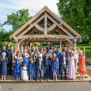 Wedding Photographer at Wethele Manor Leamington Spa Warwickshire Group Photo