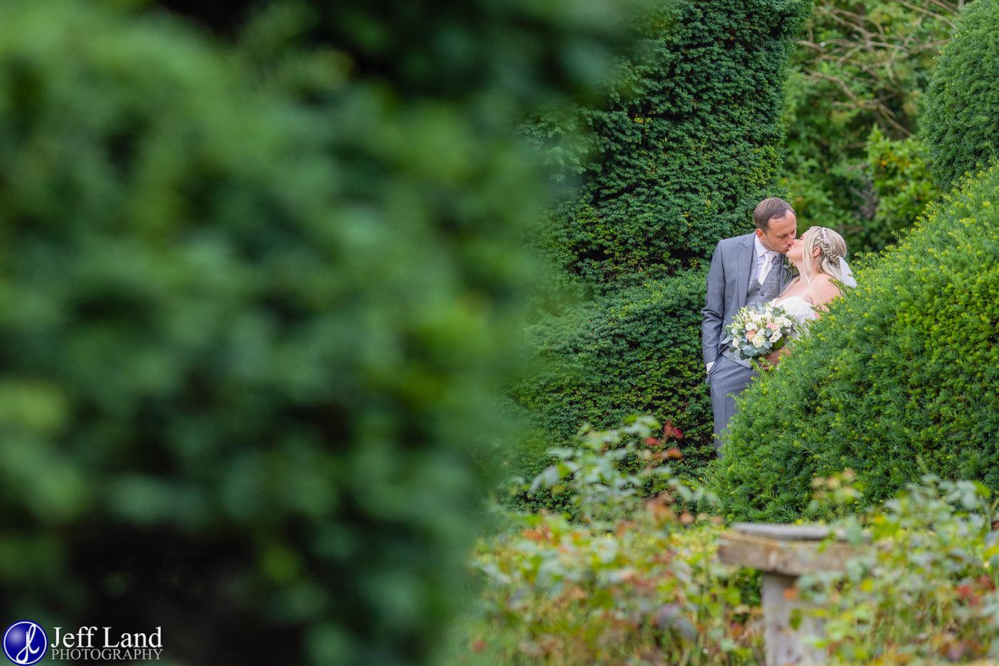 Billesley Manor Bridal Portrait in Topary Garden