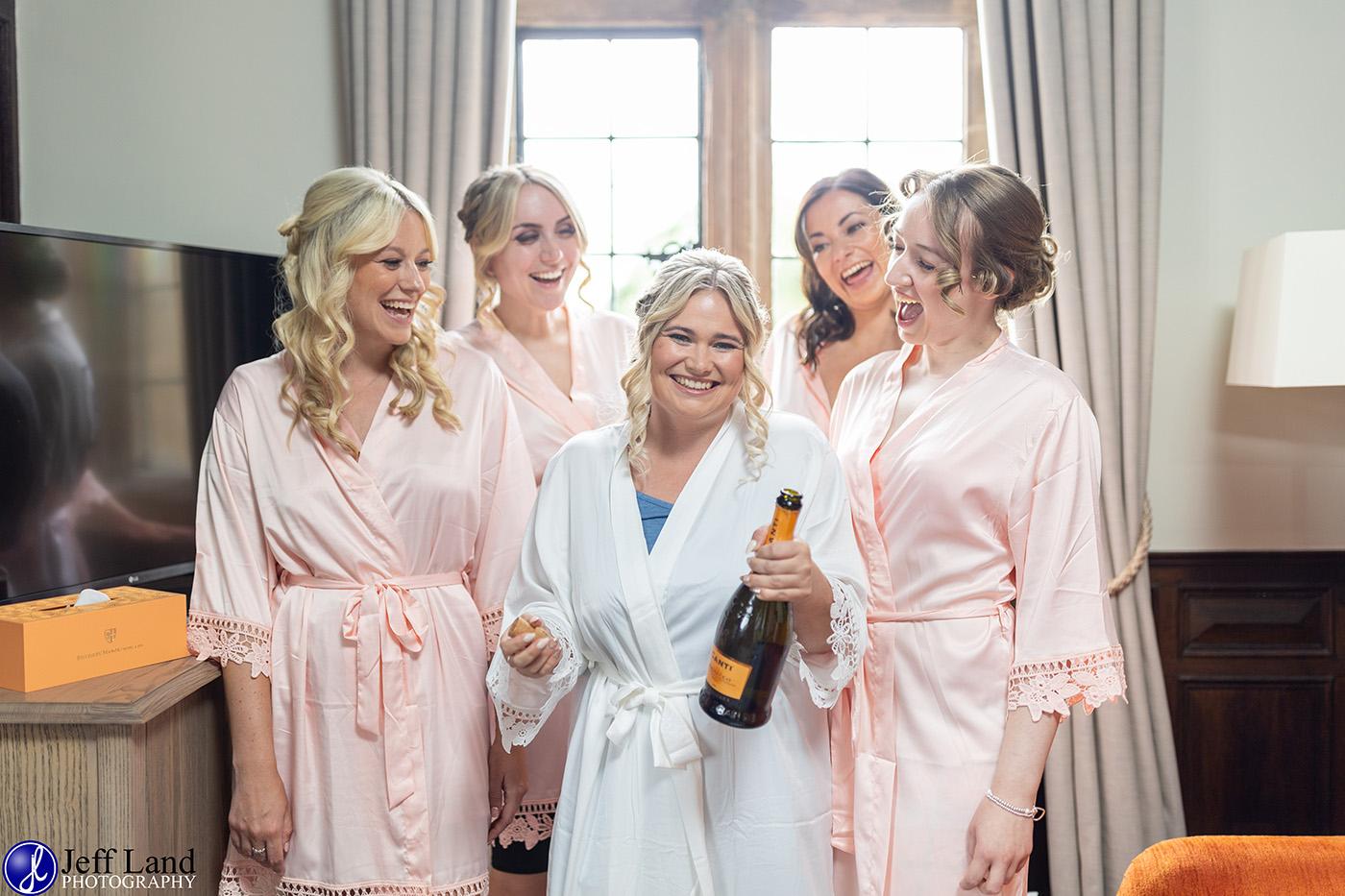 Billesley Manor Bride with Bridesmaids