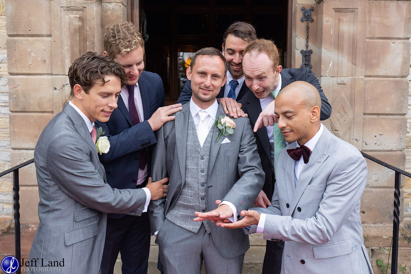 Billesley Manor Fun Wedding Photo