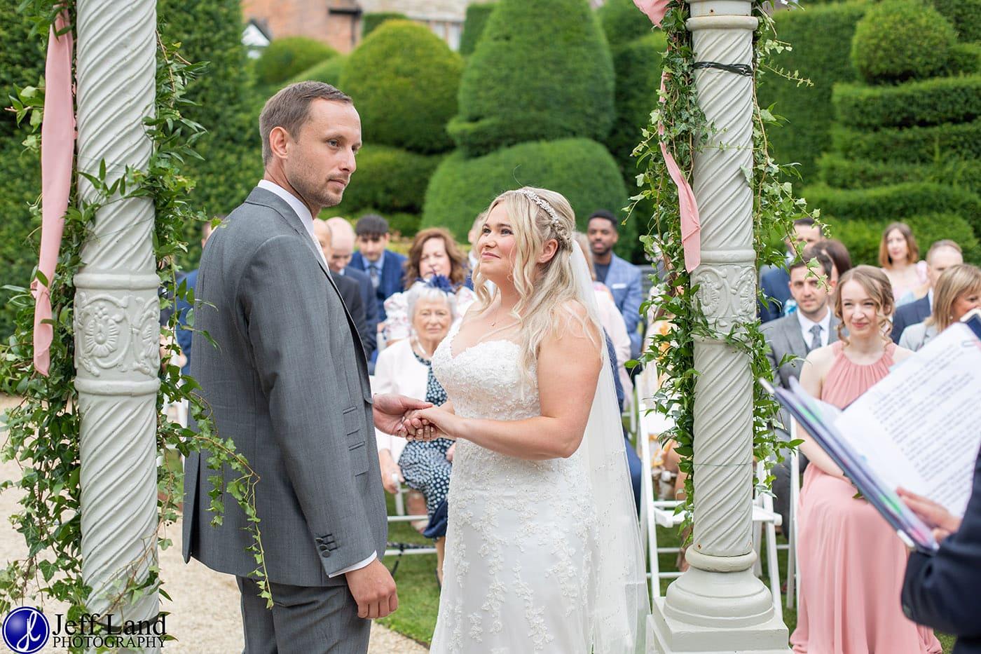 Billesley Manor Outdoor Wedding Ceremony