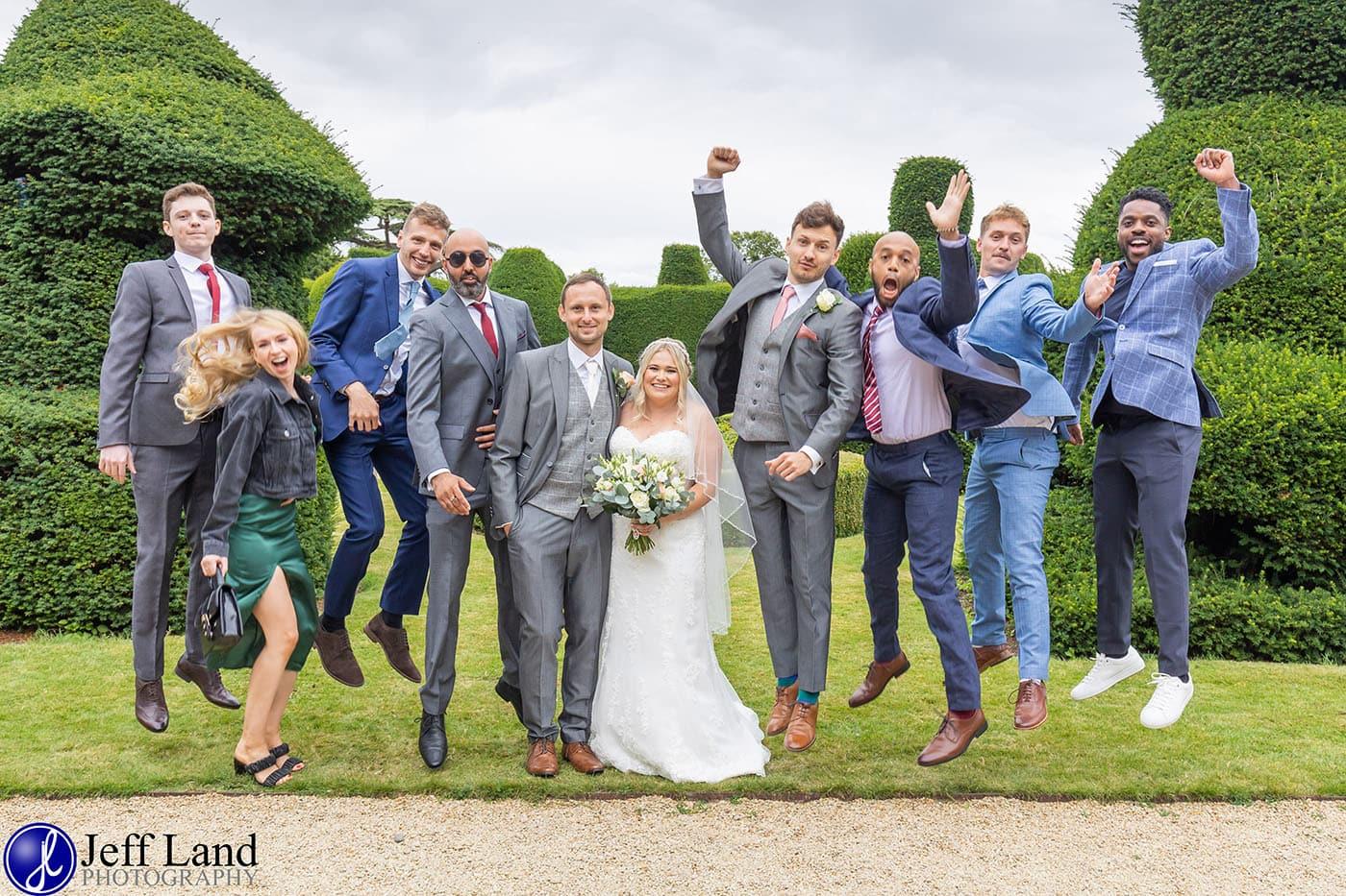 Billesley Manor Wedding Jump Photo